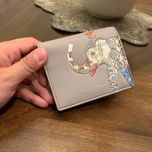 Tory Burch women's leather wallet elephant print